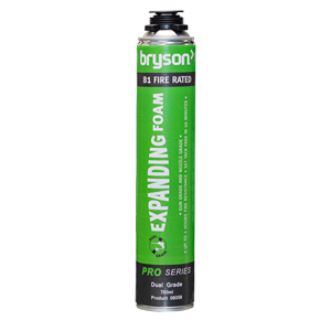Bryson Pro Series Dual Grade B1 Fire Rated Expanding Foam - 750ml