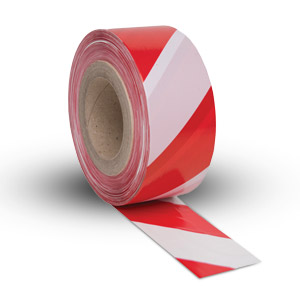 Barrier Tape Bunting - Red & White - 75mm x 500m