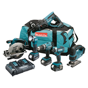 Makita DLX6068PT 6 Piece Li-ion Kit - 18v