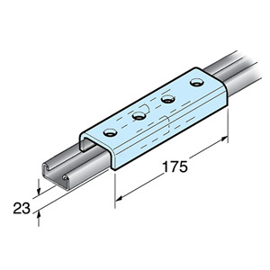Shallow External Joining Channel - 180mm - Box of 25