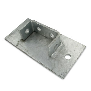 200mm x 100mm  Double Channel Base Plate - Box of 6