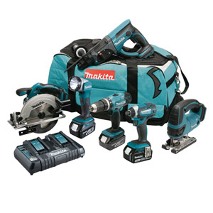 Makita DLX6068PT 18v 6 Piece Li-ion Combo Kit