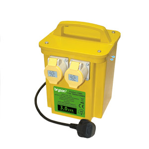 3Kva Portable Power Tool Transformer -  2 x 16 amp Sockets