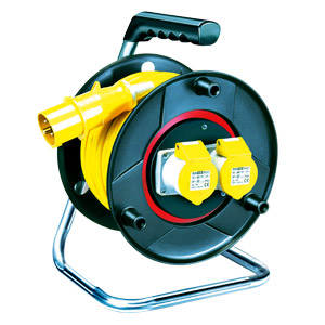 Heavy Duty Cable Reel 25m - 16amp (110 Volt) (1.5mm Cable)