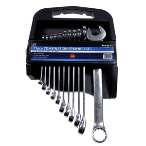 Combination Spanners 11 Piece Set 6-19mm