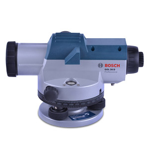 Bosch GOL26D Optical Level--IP54 c/w tripod