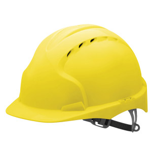 EVO3 Yellow Standard Peak Safety Helmet With One Touch Slip Ratchet