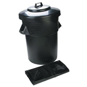 80 Ltr Dustbin, Heavy Duty c/w lid