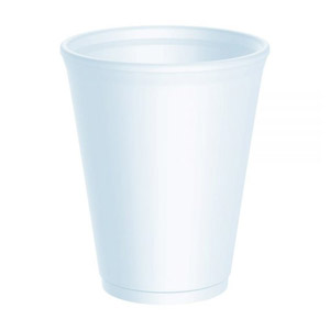 1000pk Disposable, 10oz Polystyrene Cups