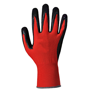 Colour Coded Cut Resistant PU Glove - Red/Cut 1 - Size 9/Large - Pack of 12