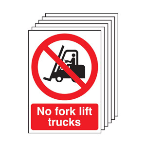 A4 No Fork Lift Trucks - Rigid Pk of 6