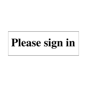 50x150mm Please sign in - Rigid