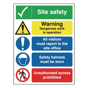 NSI-400x300mm Site Safety/Dangerous Operation/Site Office (Rigid)