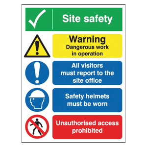 800x600 Site Safety Warning Dangerous