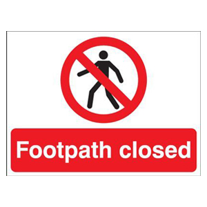 450x600mm Footpath closed stanchion sign