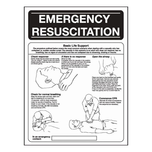 400x300mm Emergency Resuscitation Poster