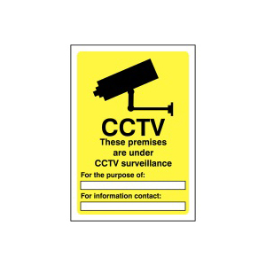 420x297mm CCTV in Operation - Rigid Pk of 6