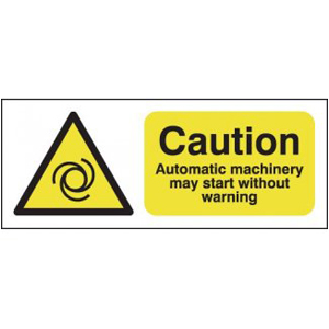 100x250mm Unauthorised Persons Not To Use This Machine - Magnetic