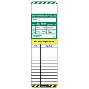 Scafftag Laddertag Inserts Pack of 50