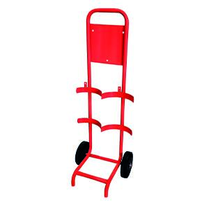 Fire Extinguisher Trolley - Red