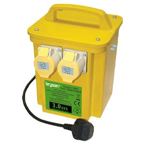 Portable Power Tool Site Transformer - 2 x 16amp Sockets - 3kVA