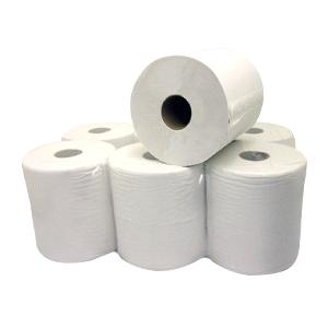Bryson Centre Feed Paper White Roll - Pack 6