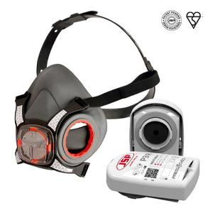 JSP Force8® Half Mask complete with Press TO Check™ P3 Filters in a Disposable Box