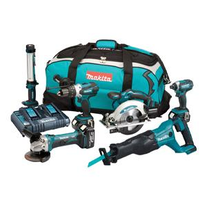 Makita DLX6072PT 6 Piece Li-ion Kit - 18v