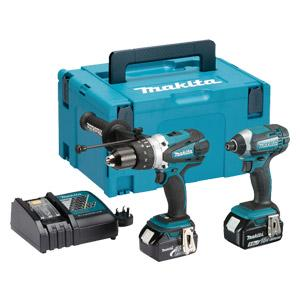 Makita DLX2145TJ 18v 5.0ah Twinpack - contains Combi & Impact Drivers
