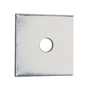 Square Plate Washers - Bright Zinc Plated - 50mm x 2mm x M10