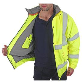 Hi Vis Bomber Jacket Yellow -  Large