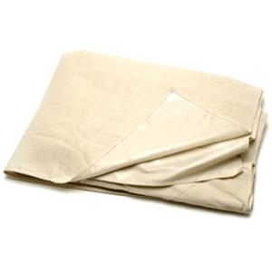 Cotton Twill Dust Sheets with Polythene Backing - 3.6 x 2.7m