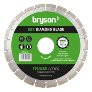 Bryson Trade Series DBR Diamond Blade dia 115mm - bore 22mm