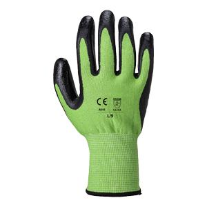 Colour Coded Cut Resistant Nitrile Foam Glove - Green/Cut 5 - Size 10/Extra Large