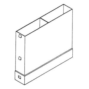 Timloc 1204 Telescopic Underfloor Vent Vertical Extension - 150mm