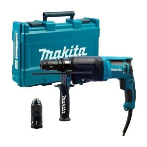 Makita HR2630T 3 Function SDS+ Hammer Drill with Quick Change Chuck - 240v