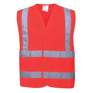 High Visability Waistcoat - Red - Extra Large