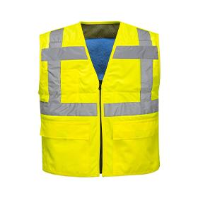 Hi-Vis Cooling Vest Yellow Medium