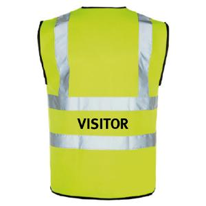 Yellow Hi Vis Waistcoat + Visitor Logo Medium