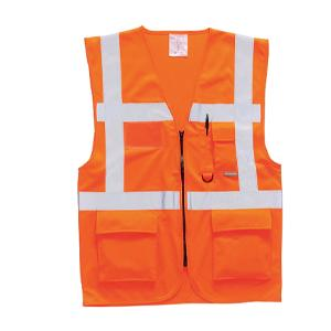 Hi Vis Executive Waistcoat Orange - Small