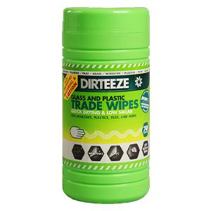 Dirteeze Smooth Cloths For Glass & Plastic  25 x 20cm - Tub of 80