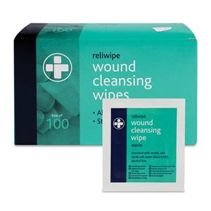 Individually Packed Antiseptic Wipes Box of 100