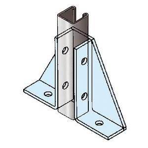 250 x 175mm Single Channel Gusseted Bracket