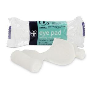 Eye Pad Dressing No.16 With Bandage Sterile Flow Wrapeped - Pack 10