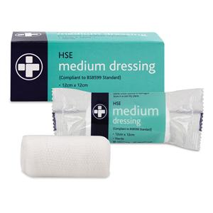 Large HSE Dressing 18 x 18cm Sterile Unboxed - Pack of 10