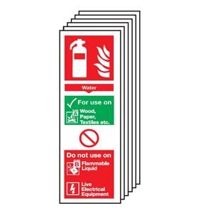 300x100mm Water Extinguisher For Use On - Rigid