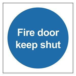 100x100mm Fire Door Keep Shut - Self Adhesive Pk of 6