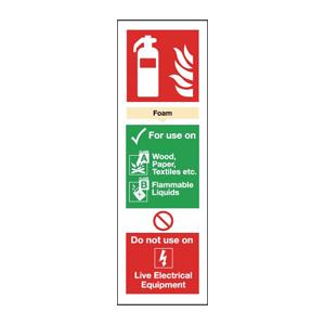 300x100mm Foam Extinguisher For Use On - Rigid