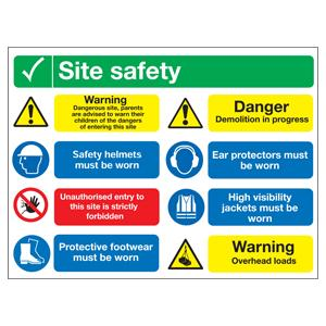 600x800mm Site Safety Dangerous Site PPE