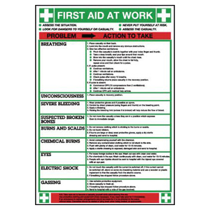 600x420mm First Aid At Work Poster